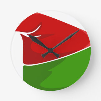 Elf Hat Round Clock