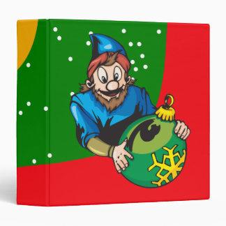 Elf Holding Christmas Ornament Binders
