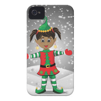 Elf in snow iPhone 4 case