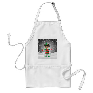 Elf in snow standard apron