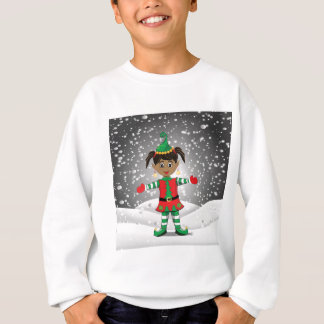 Elf in snow sweatshirt