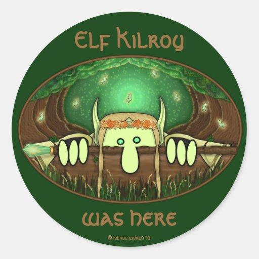 Elf Kilroy Sticker