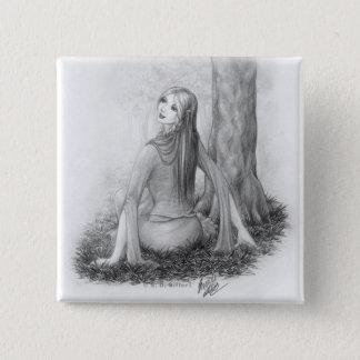 Elf Lady 2 Inch Square Button