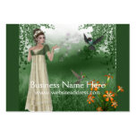Elf Magic in Grass Field :: Fantasy Business Card
