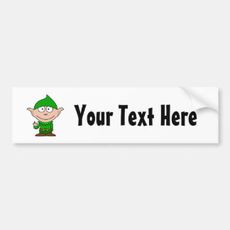 Elf Middle Finger Bumper Sticker - Customize it!