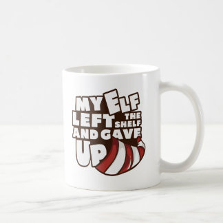 "Elf ""My Elf Left The Shelf"" Coffee Mug"