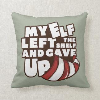 "Elf - ""My Elf Left The Shelf"" Pillow"