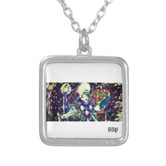 Elf night art 2 silver plated necklace