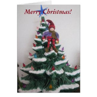 Elf Not On A Shelf Blank Greeting Card