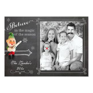 "Elf on Shelf  | Holiday Photo Card 5"" X 7"" Invitation Card"