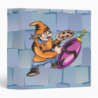 Elf Painting Ornament Vinyl Binders