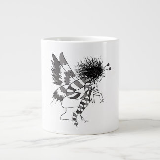 Elf Romantic Nostalgic Artistic Brownie Butterfly Large Coffee Mug