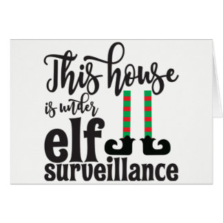 Elf Sign Christmas Card