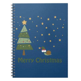 Elf Snail Christmas Scene Note Book