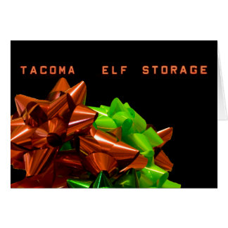 Elf Storage #1 Christmas Card