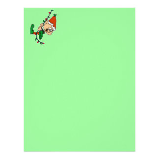 elf swinging on lights letterhead