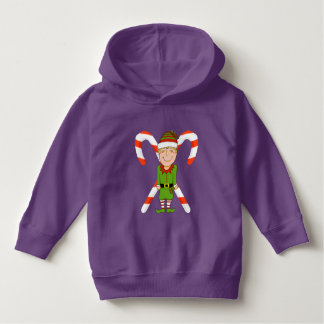Elf with Candy Cane Toddler Hoodie