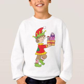 Elf with Present Sweatshirt