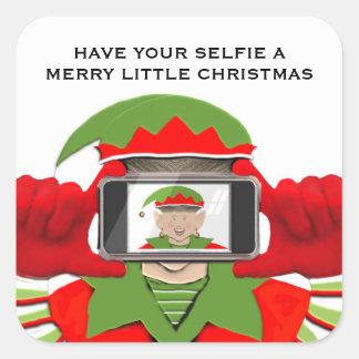 Elfie Selfie Square Sticker