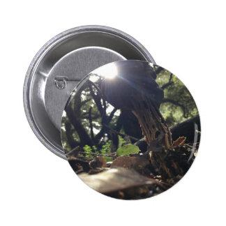 Elfin Saddle Mushroom 2 Inch Round Button
