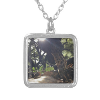 Elfin Saddle Mushroom Silver Plated Necklace