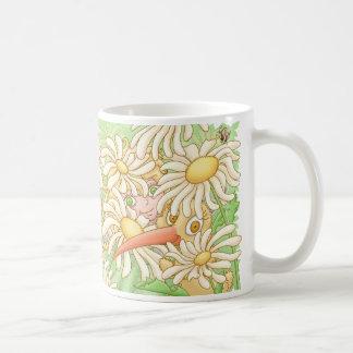 Elfleda and Kiwi in the daisies Coffee Mug