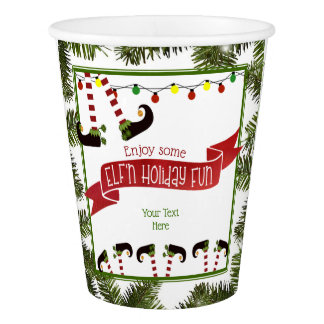 ELF'n Holiday Fun Party Paper Cup