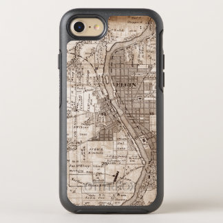 Elgin Illlinois 1870 Plat Map Fox River Downtown OtterBox Symmetry iPhone 8/7 Case