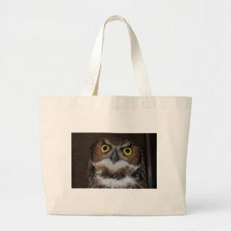 Eli - Great Horned Owl I Large Tote Bag
