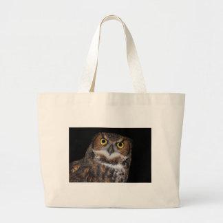 Eli - Great Horned Owl II Large Tote Bag