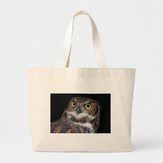 Eli - Great Horned Owl III Large Tote Bag