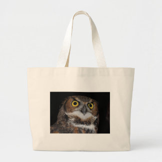 Eli - Great Horned Owl V Large Tote Bag