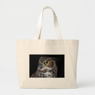 Eli - Great Horned Owl VI Large Tote Bag