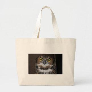 Eli - Great Horned Owl VII Large Tote Bag