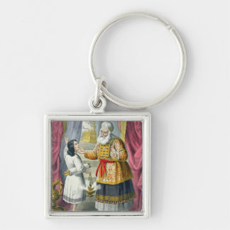 Eli Questioning Samuel Regarding the Vision, from Silver-Colored Square Keychain