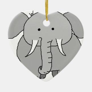 Eli the Elephant Ceramic Ornament