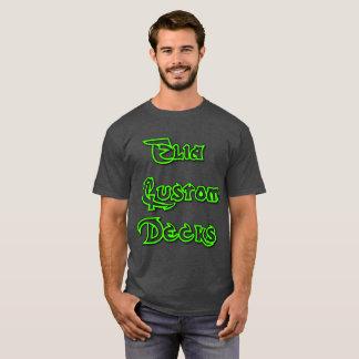elia dark grey/green logo shirt