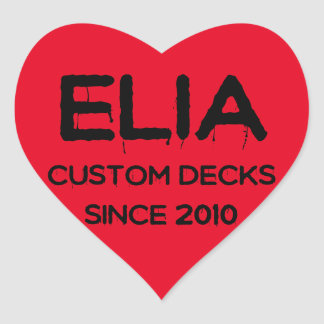 Elia heart logo sticker