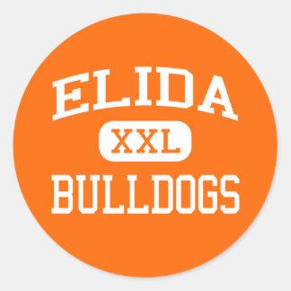 Elida - Bulldogs - Elida High School - Elida Ohio Round Sticker