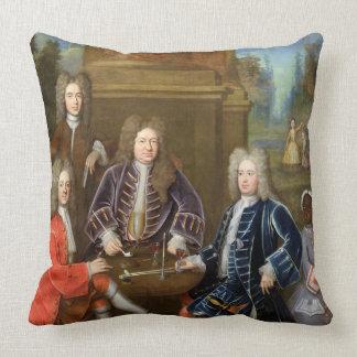Elihu Yale (1648-1721) the second Duke of Devonshi Throw Pillow