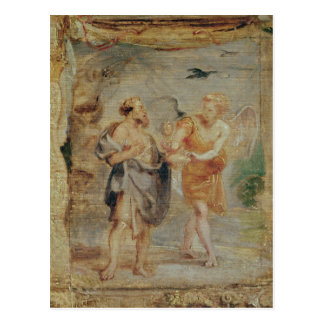 Elijah Receiving Bread and Water from an Angel Postcard