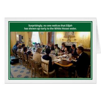 Elijah White House Passover Seder Card