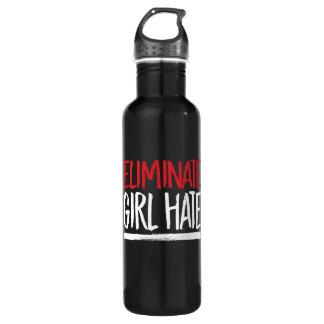 Eliminate Girl Hate --  white - 710 Ml Water Bottle