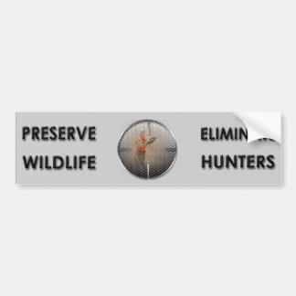 Eliminate Hunters Bumper Sticker