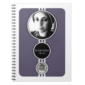 elipses purple memorial cards notebook