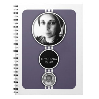 elipses purple memorial cards spiral notebook