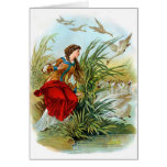 Elisa With Pink Scarf In The Wild Swans Card