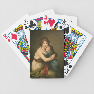 Elisabeth and Her Daughter Bicycle Playing Cards
