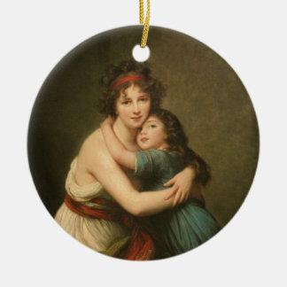 Elisabeth and Her Daughter Ceramic Ornament