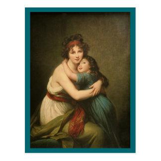 Elisabeth and Her Daughter Postcard